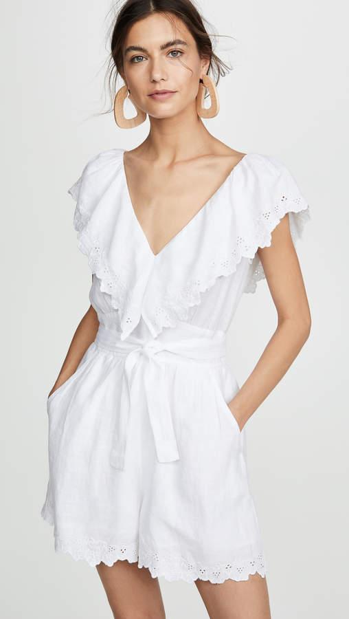1cb38fee073b0 Women Linen Shorts Romper - ShopStyle