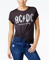 Goodie Two Sleeves Juniors' AC/DC Graphic Burnout T-Shirt