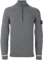 Stone Island zip up roll neck jumper - men - Polyamide/Wool - S