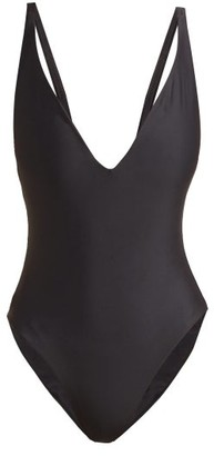 JADE SWIM Revel Plunge-front Swimsuit - Womens - Black