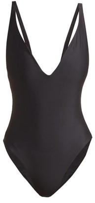 JADE SWIM Revel Plunge-neck Swimsuit - Black