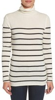 Halogen Wool & Cashmere Funnel Neck Sweater (Regular & Petite)
