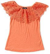 I.N. Girl Big Girls 7-16 Lace Off-The-Shoulder Top