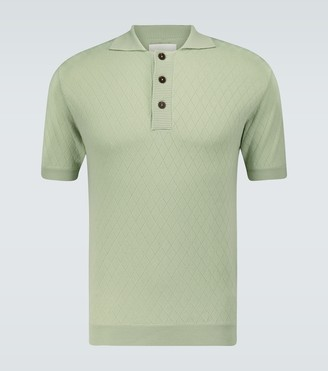 King And Tuckfield Short-sleeved wool polo shirt