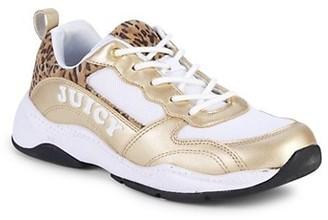 Juicy Couture Girl's Leopard-Trim Low-Top Sneakers