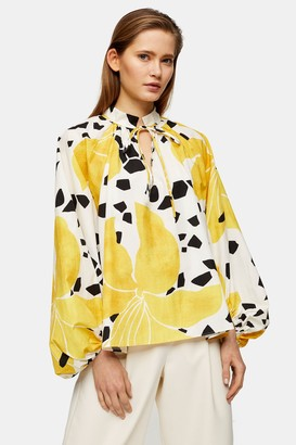 Topshop Womens **Lily Print Smock Top By Multi