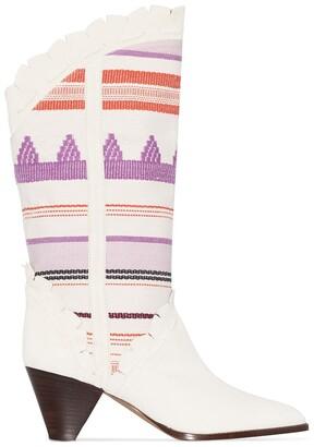 Isabel Marant Leesta tapestry cowboy boots