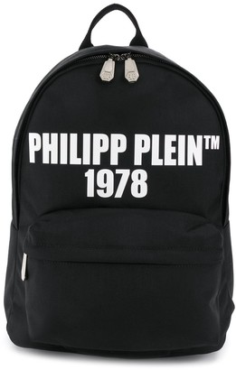 Philipp Plein Logo-Print Backpack