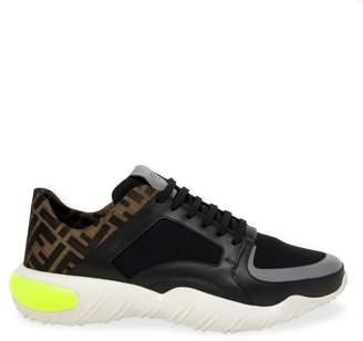 Fendi Fancy Athletic Logo Sock Sneakers