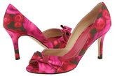 Kate Spade - Gesture (Red/Hot Pink/Chocolate Watercolor Floral Print Satin)