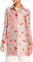 Mantu Floral Jacquard Single-Breasted Coat