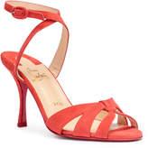 Christian Louboutin Trezuma 85 light red suede sandals