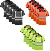 Standsafe 5 Pack Polo Shirts Hi Vis High Viz Visibility Short Sleeve Safety Work-wear Shirt