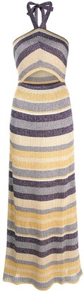 M Missoni Cut-Out Stripe Knit Dress