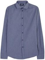 Armani Jeans Dark Blue Spot Fil Coupé Shirt
