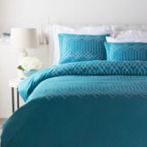 The Well Appointed House Teal and Light Gray Plaza Bedding Collection-Available in a Variety of Sizes