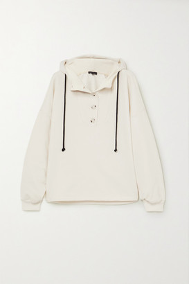 The Range Contra Cotton-blend Terry Hoodie - White