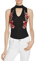 Vintage Havana Floral Embroidered Choker Top