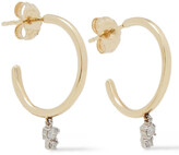 Thumbnail for your product : Adina Reyter Amigos 14-karat Gold, Sterling Silver And Diamond Hoop Earrings
