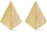 Ileana Makri Shadow 18-karat Gold Diamond Earrings - one size