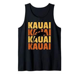 Hawaiian Islands Surf Style Kauai Dolphin Watching Tank Top