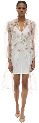 Aeryne Sarah Long Floral Print Organza Dress