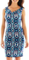 JCPenney Nine & Co 9 & Co. Cowlneck Print Dress