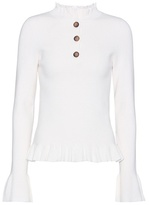 See by Chloe Cotton and cashmere-blend sweater