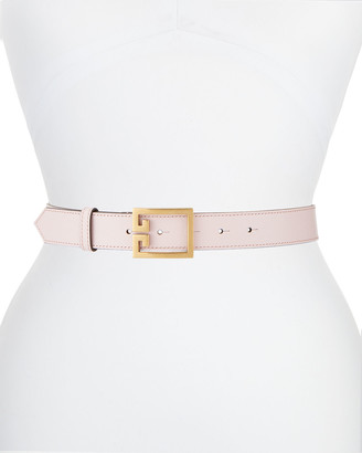 Givenchy Goat Leather Belt w/ Double-G Logo Buckle