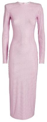 Alessandra Rich Crystal-Embellished Midi Dress