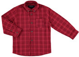 Mayoral Long-Sleeve Double-Stitched Check Shirt, Red, Size 3-6