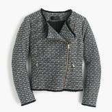 J.Crew Zip jacket in fringy tweed