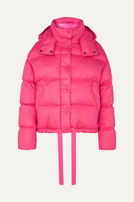 Moncler Hooded Quilted Cotton Down Jacket - Pink