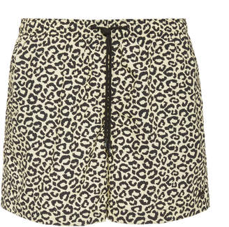 Solid & Striped The Classic Leopard Print Swim Shorts