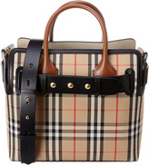Burberry Small Triple Stud Belt Bag Vintage Check & Leather Tote
