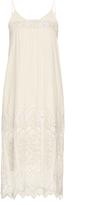 Sea Embroidered-lace midi slip dress