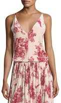 Giada Forte Liberty Floral-Print Velvet Camisole Top
