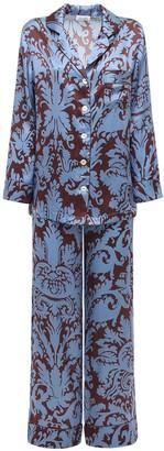 Luna Di Seta Printed Satin Pajama Set