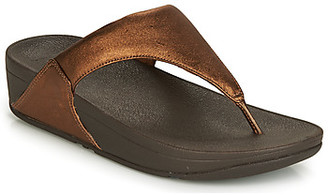 FitFlop LULU LEATHER TOEPOST women's Sandals in Brown