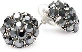 Yochi Hematite Gunmetal Stone Burst Stud Earrings