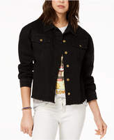 Say What Juniors' Cotton Embroidered Denim Jacket