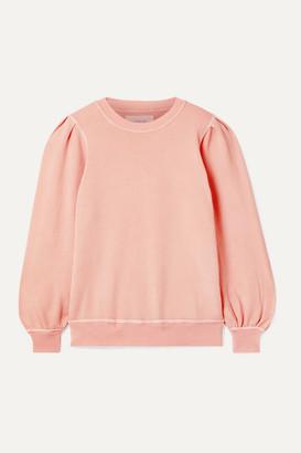 The Great The Pleat Sleeve Cotton-jersey Sweatshirt - Blush