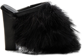 Tibi Bee Feather Mules