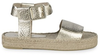 Saks Fifth Avenue Metallic Ankle-Strap Platform Espadrilles