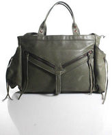 Botkier Olive Green Leather Copper Tone Studded Satchel