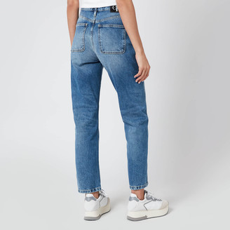 Calvin Klein Jeans Women's High Rise Blue Straight Jeans
