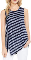 Vince Camuto Asymmetrical Striped Tank