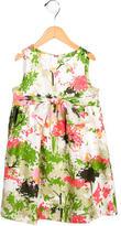 Milly Minis Girls' Silk Floral Print Dress