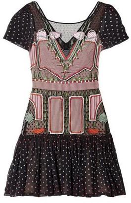 Temperley London Bourgeois Silk Chiffon-paneled Embroidered Point D'esprit Mini Dress