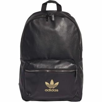 adidas Polyurethane Leather Backpack Black Size NS